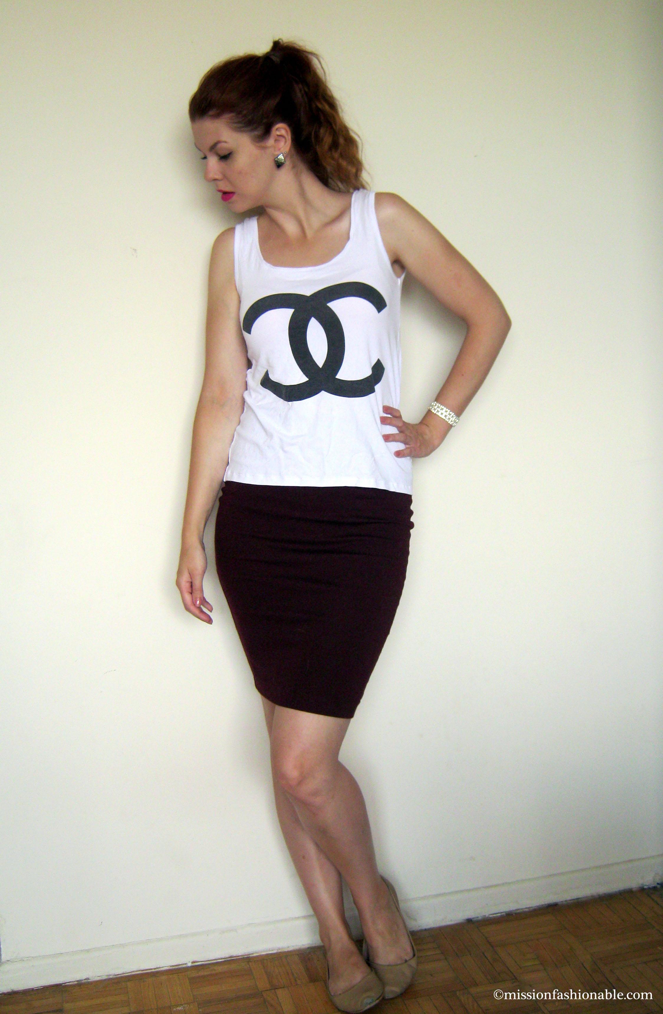 ... Set, Top- 2 Days Look, Skirt- Forever 21, Flats and bracelet- Ardene